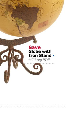 Save Globe with Iron Stand