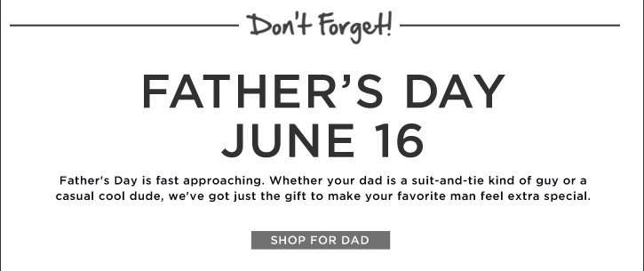 Father's Day June 16