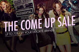 Up To 75% Off Your Favorite Brands
