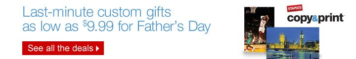 Last-minute custom gifts as low as $9.99 for Fathers Day. See all  the deals.
