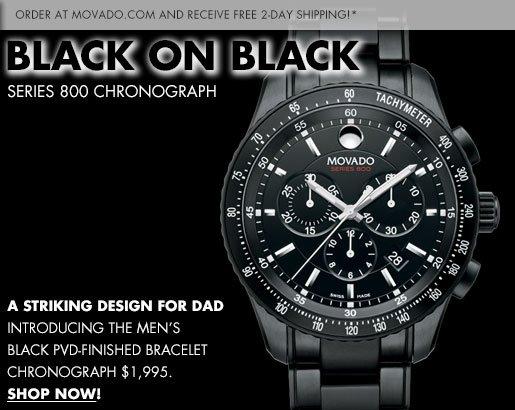 BLACK ON BLACK SERIES 800 CHRONOGRAPH - SHOP NOW