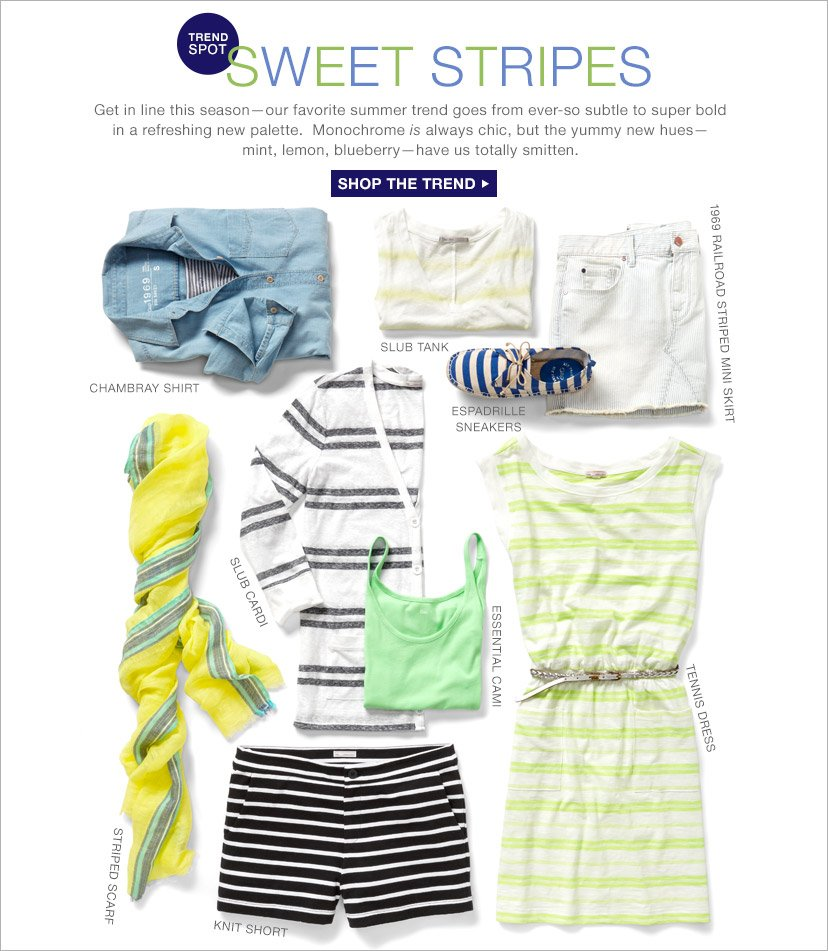 TREND SPOT | SWEET STRIPES | SHOP THE TREND