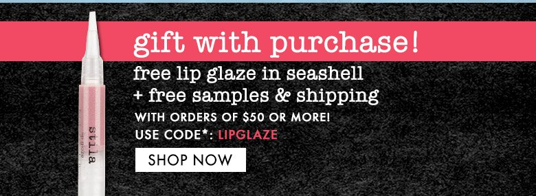 free lip glaze, samples & shipping. use code: LIPGLAZE
