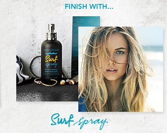 Finish with… Surf Spray