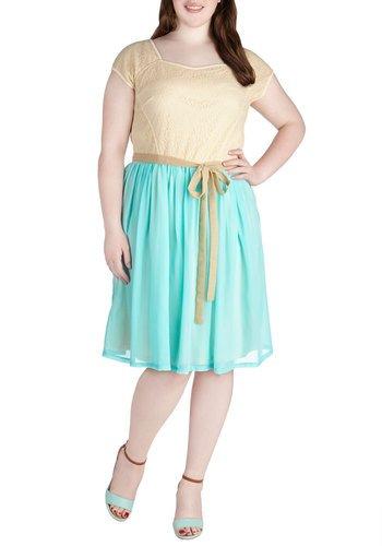 Sweet on Blue Dress in Plus Size