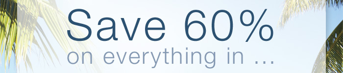 Save 60% on everything in...