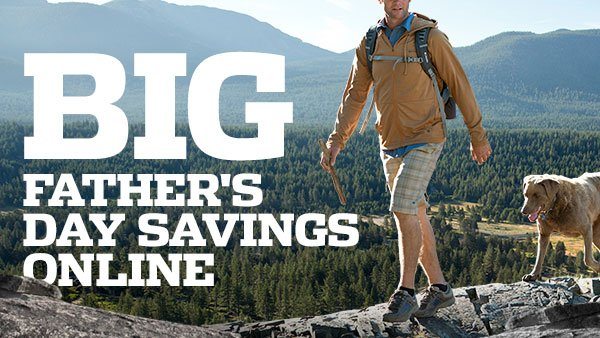 BIG FATHER'S DAY SAVINGS ONLINE