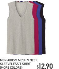 MEN AIRISM SHORT SLEEVE V NECK