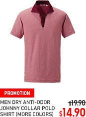 MEN DRY ANTI-ODOR JOHNNY COLLAR POLO