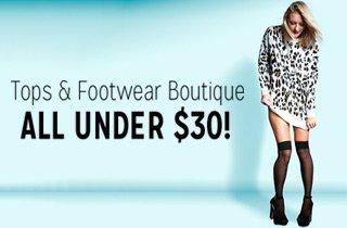Tops & Footwear Under $30