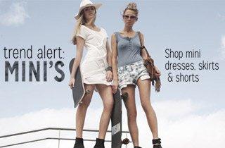 Mini Dresses, Skirts & Shorts