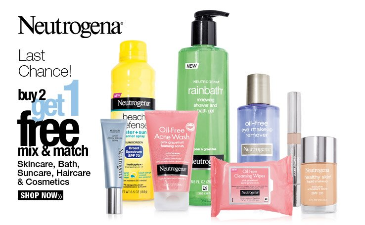 Last Chance - Buy 2, Get 1 Free Neutrogena. Shop Now.