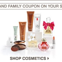 USE YOUR FRIENDS AND FAMILY COUPON ON YOUR SUMMER FAVORITES. SHOP COSMETICS.