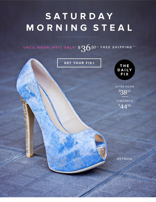 Saturday Morning Steal This Pump Before the Price Goes Up! - - Get Your Fix