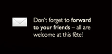 Don't forget to forward to your friends