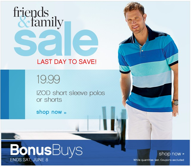 Friends and Family. Last day to save! Shop now.