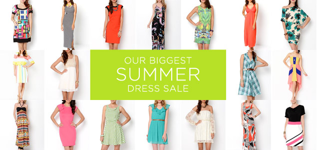 The Biggest Summer Dresses Sale
