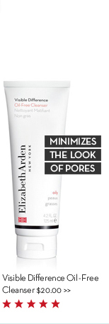 MINIMIZES THE LOOK OF PORES. Visible Difference Oil-Free Cleanser $20.00.