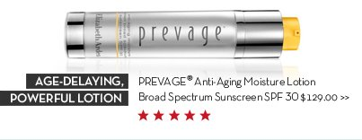 AGE-DELAYING, POWERFUL LOTION. PREVAGE® Anti-Aging Moisture Lotion Broad Spectrum Sunscreen SPF 30 $129.00.