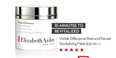 15-MINUTES TO REVITALIZED. Visible Difference Peel and Reveal Revitalizing Mask $36.00.