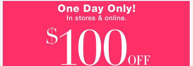 Enjoy this amazing ONE DAY ONLY coupon! Shop now!