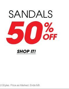 50% Off Sandals | Shop Now