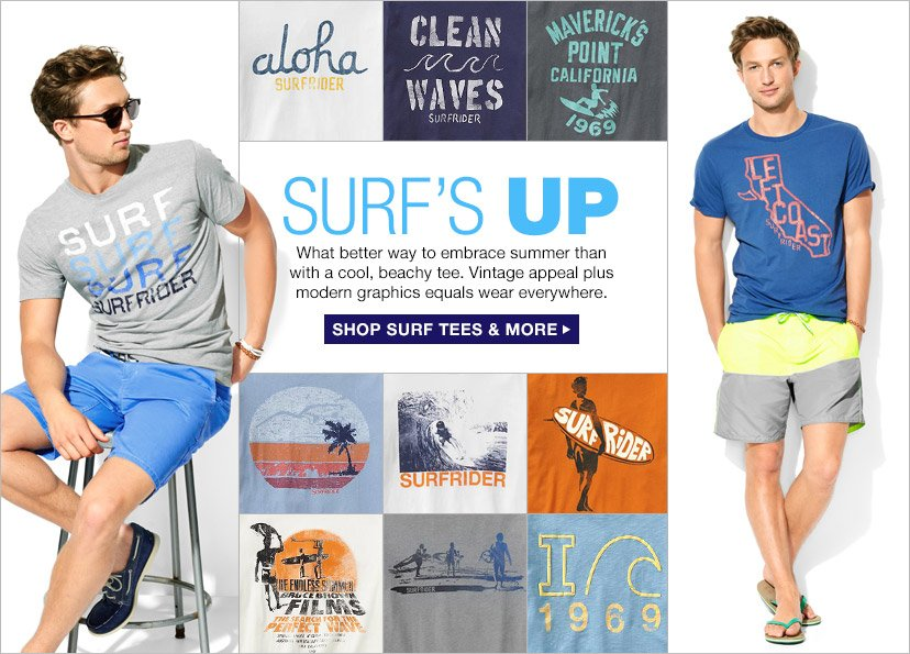 SURF'S UP | SHOP SURF TEES & MORE