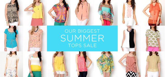 The Biggest Summer Tops Sale