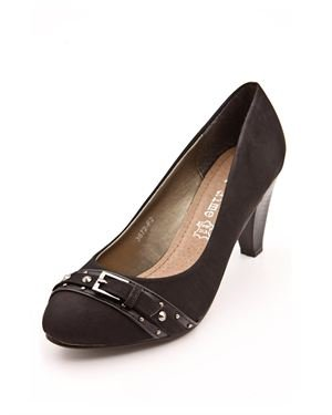 Bo'Aime Genuine Leather Buckle Pumps
