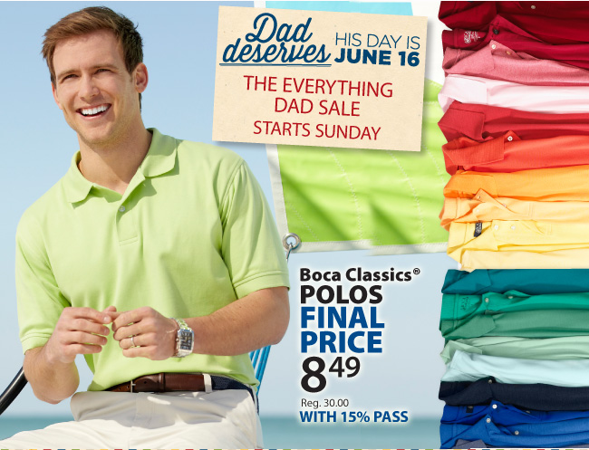 $8.49 Boca Classics Polo