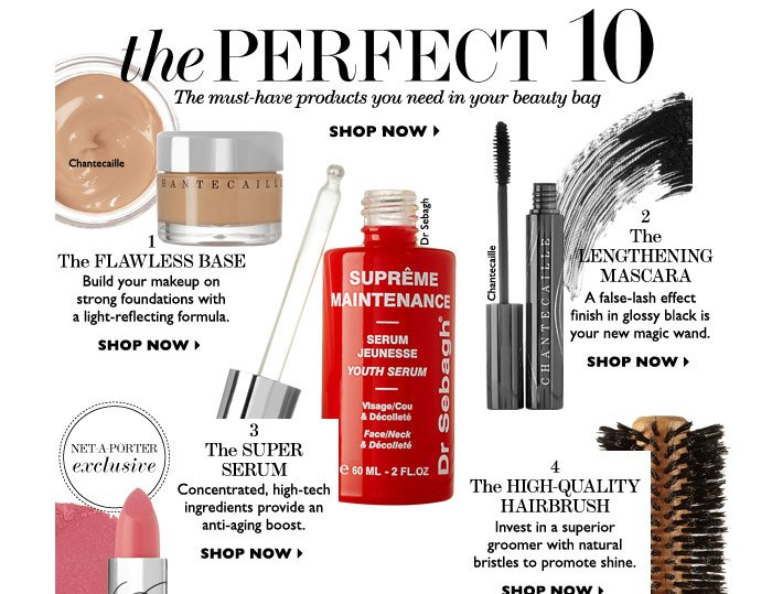 THE PERFECT 10 - The must-have products you need in your beauty bag. SHOP NOW