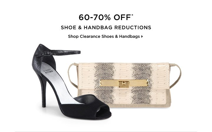 60-70% Off* Shoe & Handbag Reductions