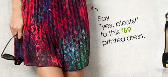 """Say, """"yes, pleats″ to this $89 printed dress."""