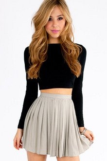 CHILTON PLEATED SKIRT 30