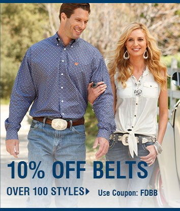 10% Off Belts Over 100 Styles