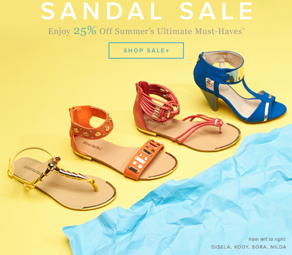 Last Chance! 25% Off Sandals Ends Tonight - - Shop Sale