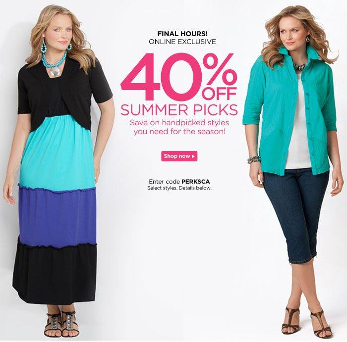 40% Off Summer Picks