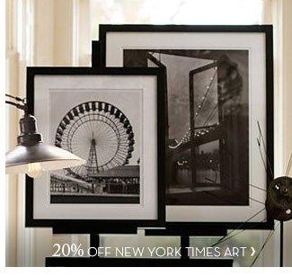 20% OFF NEW YORK TIMES ART
