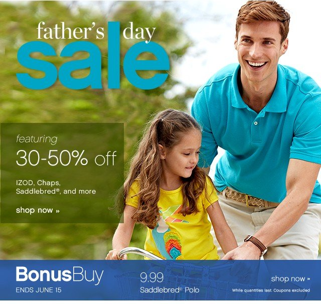Father's Day Sale. 30-50% off. Shop now.