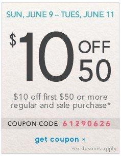Extra $10 off 50. Get coupon.
