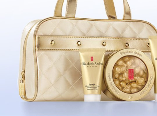 THE GO GO GIRL. The gold standard for looking your best everywhere you go. Ceramide Gold Capsules Gift Set, $78.00 (a $133 Value).
