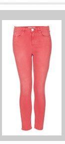 MOTO Red Skinny Jamie Jeans
