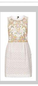 Sequin and Crochet Dress