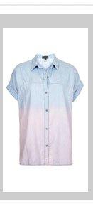 MOTO Dip Dyed Denim Shirt