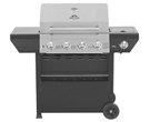 Grill Master 4-Burner Liquid Propane Gas Grill With Side Burner