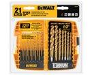 DEWALT 21-Piece Titanium Metal Twist Drill Bit Set