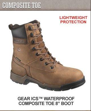 """Gear ICS Waterproof Composite Toe 8"""" Boot"""