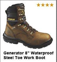 "Generator 8"" Waterproof Steel Toe Work Boot"