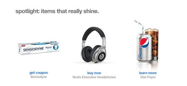Spotlight: items that really shine.
