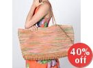 florabella - Laguna Crochet Raffia Leather Tote